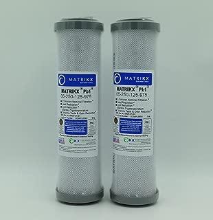 KX MATRIKX Pb1 10-Inch Length Extruded Carbon Block Filter Cartridge, 2-Pack