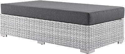 Modway EEI-4308-LGR-CHA Ottoman, Light Gray Charcoal