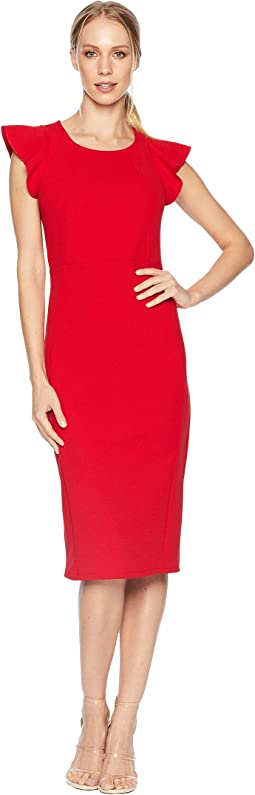 Flutter Sleeve Bodycon Midi