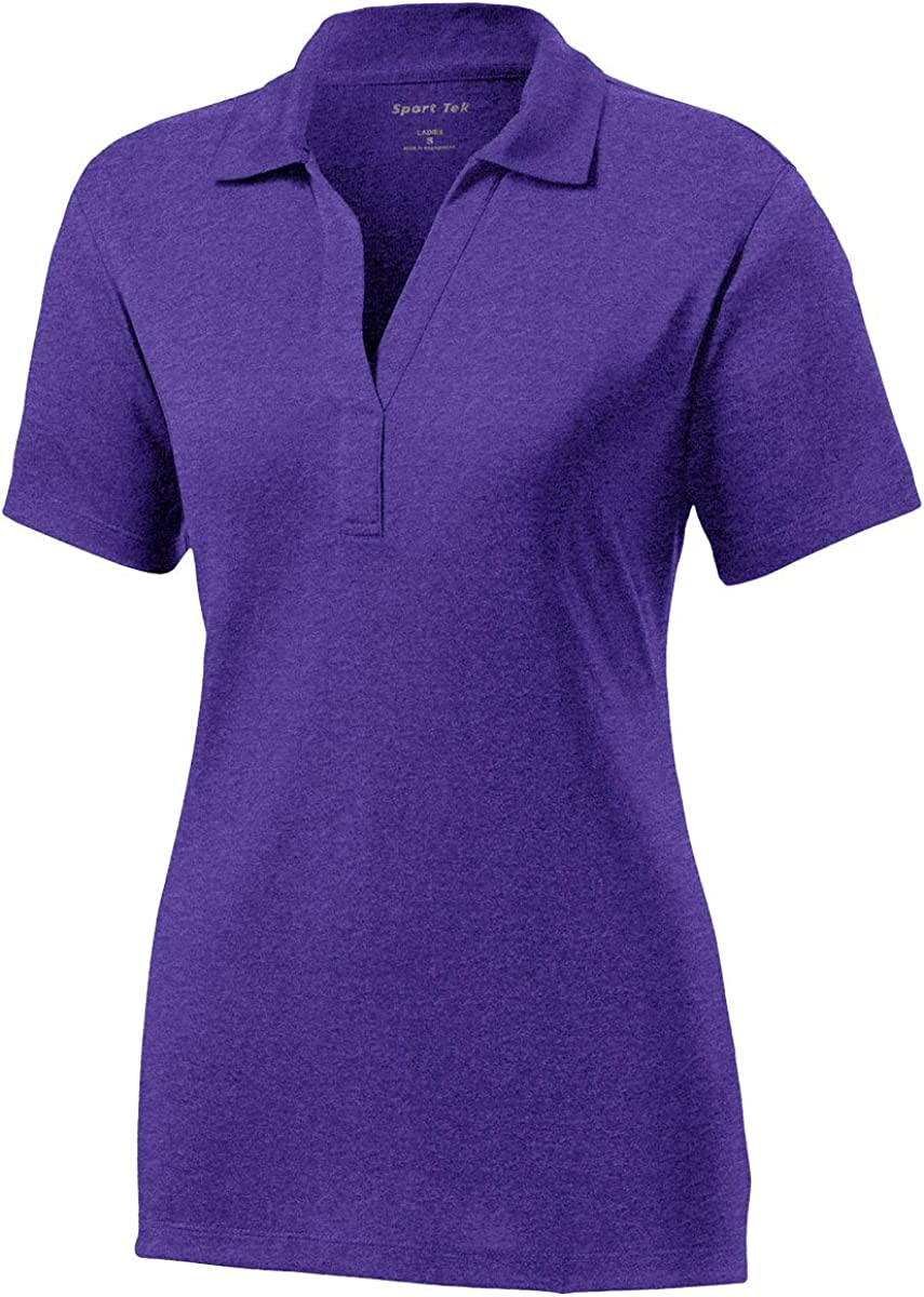 Sport Tek Women's Heather Contender Polo Shirt Purple / Heather Large
