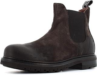 Hombre Polaco NeroGiardini I001853U con Lateral elástica del Ante Carbone. Un Zapato cómodo Adecuado para Todas Las Ocasio...