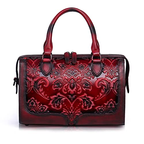 Embossed Leather Bag: Amazon.com