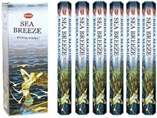 Sea Breeze - Box of Six 20 Gram Tubes - HEM Incense