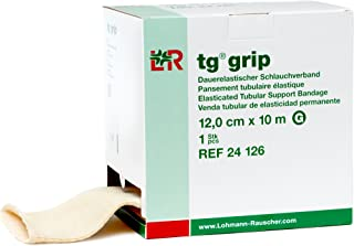 tg Grip Elastic Tubular Compression Bandage, Seamless Tube Stockinette Wrap for Retention, Lymphedema, Swelling, 85% Cotton, Washable & Reusable, Size G