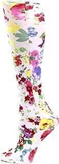 Celeste Stein Therapeutic Compression Socks, White Marisa, 8-15 Mmhg, Mild