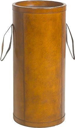 BRAID CONCEPT Portaombrelli in Cuoio Marrone Pelle 28x28x62 cm