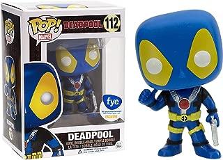Funko Deadpool [Blue Suit] (f.y.e. Exclusive) POP! Marvel Vinyl Figure & 1 POP! Compatible PET Plastic Graphical Protector Bundle [#112 / 07488 - B]