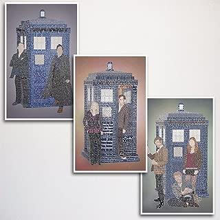 Doctor Who Word Art Print Three Set 11x17