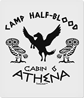 TooLoud Camp Half Blood Cabin 6 Athena 9 x 10.5 Rectangular Static Wall Cling