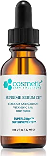 Cosmetic Skin Solutions Supreme Serum CE, Antioxidant Brightening 15% Vitamin C Formula (1 oz)