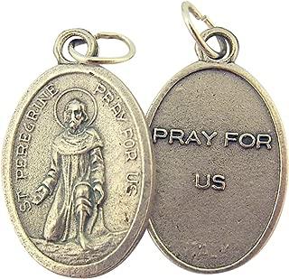 Catholic Patron Saint Medals Silver Toned Base, 1 Inch, Set of 2
