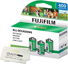 Fuji Superia X-TRA 3 Pack ISO 400 36 Exp. 35mm Film, Total 108 Exposures + Quality Photo Ultra Soft Microfiber Cloth …