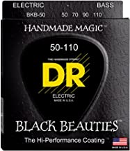 DR Strings BKB-50 Heavy Black Beauties K3 Coated Electric Bass Guitar Strings