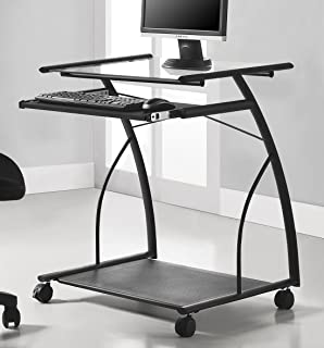 Ameriwood Home 9378196 Sheldon Mobile Computer Desk, Black