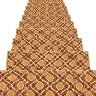 JIAJUAN Rectangle Stair Carpet Treads Durable Hard Floor Staircase Step Mats Modern, 5 Colors, 4 Sizes (Color : E-1 pcs, S...