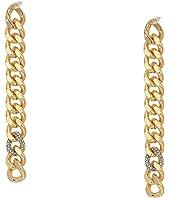 Pave Links Linear Earrings