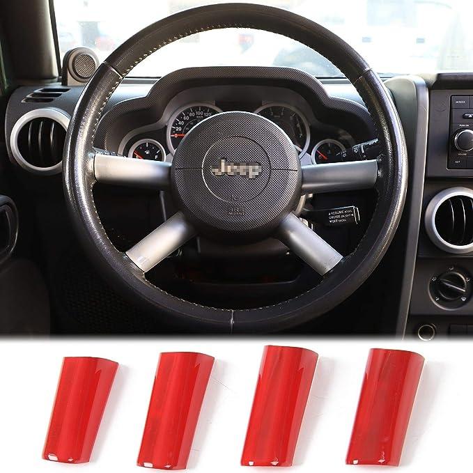 Soft Carbon Fiber Steering Wheel Cover Trim For Jeep Wrangler JK2011-17 Renegade