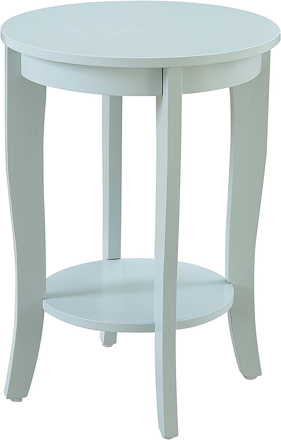 Convenience Concepts 7106259SF American Heritage Round End Table, Sea Foam