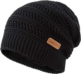 Mens Winter Knit Warm Hat Stretch Plain Beanie Cuff Toboggan Cap