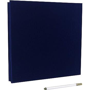 Álbum de fotos autoadhesivo, álbum de recortes magnético, 40 páginas, tapa dura, 28 x 26 cm, con caja de almacenamiento para álbum de fotos, kit de accesorios de bricolaje azul: Amazon.es: Hogar