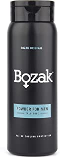 Bozak Cooling Body and Foot Powder for Men � Talc Free, Antifungal, Jock Itch Defense, Deodorant, Stops Chafing, Absorbs Sweat, and Keeps Skin Dry � with Menthol (4 oz.)