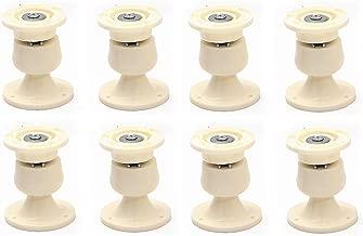 Nixnine Plastic Door Catcher Magnetic Stopper Holder for Home, Office, Door Magnet (7cm x 5cm) Pack of 8,(Ivory)