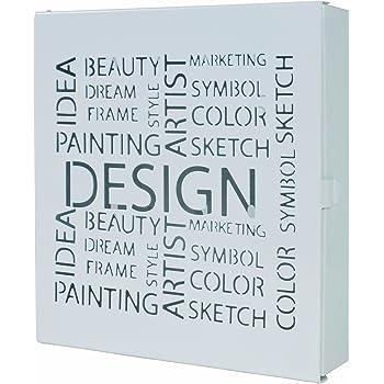 Haku Möbel 44325 Caja Llavero - color blanco - 5 x 22 x 24 cm