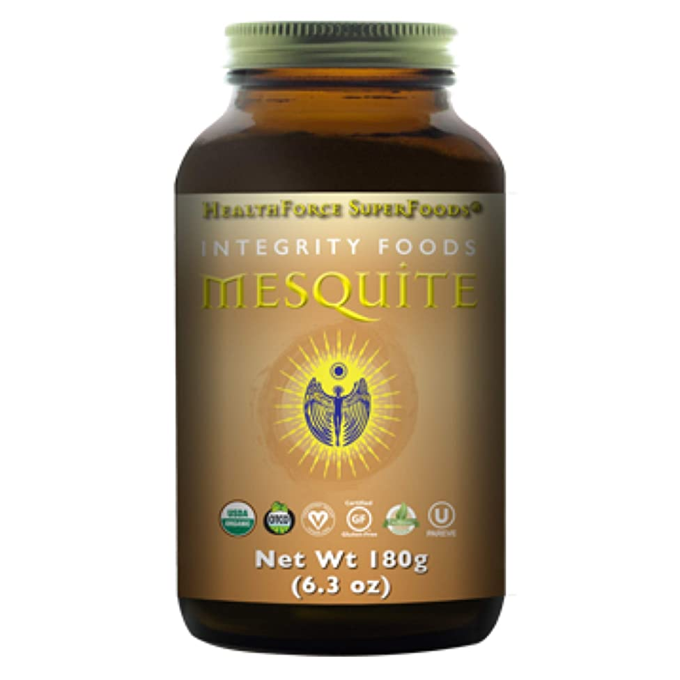 HealthForce SuperFoods Integrity Foods Mesquite - 180 Grams Powder - Low Glycemic Natural Sweetener, High in Soluble Fiber ?- Organic, Vegan, Gluten Free - 19 Servings