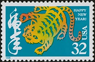 Year of the Tiger: Lunar New Year, Full Sheet of 20 x 32-Cent Postage Stamps, USA 1998, Scott 3179