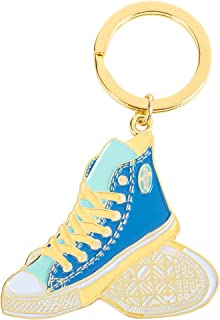 ons with Each and Every Footstep Blue Gold Accents 3 x 2 Inch Zinc Alloy Keyring