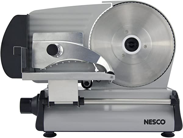 NESCO FS 250 Stainless Steel Food Slicer Adjustable Thickness 8 7 Silver