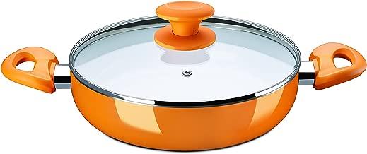 Bajaj Ceramic Aluminium Kadhai, 1.5 Litres/200mm, Orange