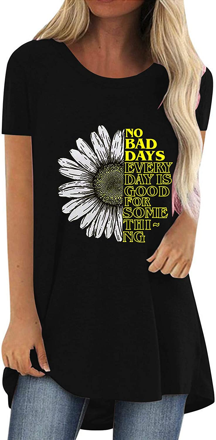 Women's Cute Long Sleeve Tops Loose Sunflower Crewneck Pullover Daily Casual Sweatshirt Active Tops