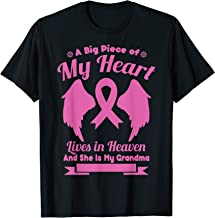 Grandma In Heaven Wings Awesome Breast Cancer Awareness Gift T-Shirt