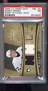 2006 Upper Deck Sweet Shot Sidney Crosby Stitches Game-Used Jersey Card 7 - PSA/DNA Certified - Hockey Game Used Cards