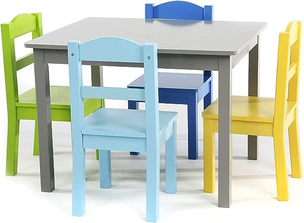 Tot Tutors TC451 Table Chair Grey Blue Green Yellow