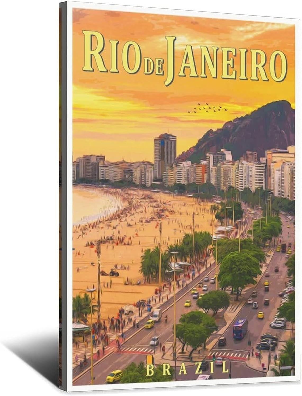 Vintage Travel Poster Max 71% OFF Brazil Max 59% OFF Rio Canvas Janeiro De Art Po