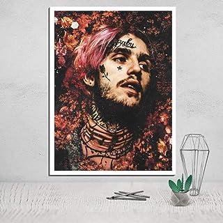 QianLei Lil Peep Photo Canvas Poster Tableau Decoration Murale Salon Carteles Pinturas en la Pared Deco Home-30X45 CM Sin Marco