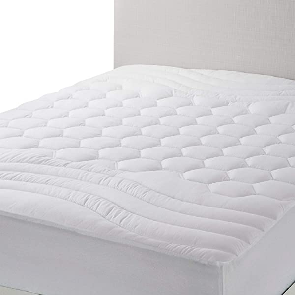 Bedsure Twin XL Mattress Pad Twin Extra Long Size Hypoallergenic Breathable Ultra Soft Quilted Mattress Pad Deep Pocket Fitted Sheet Mattress Cover White