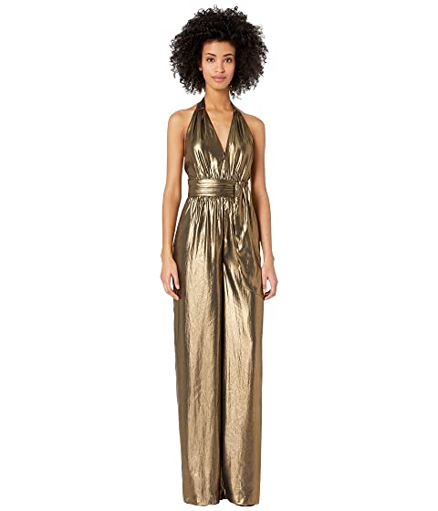 70s Prom, Formal, Evening, Party Dresses Rachel Zoe Renee Jumpsuit Gold Womens Jumpsuit  Rompers One Piece $425.00 AT vintagedancer.com