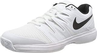 Men's Air Zoom Prestige Tennis Shoe (White/Black, 13 D(M) US)