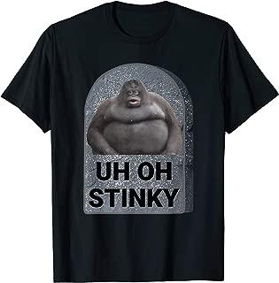 Uh Oh Stinky Poop Meme Tombstone Le Monke Halloween Costume T-Shirt