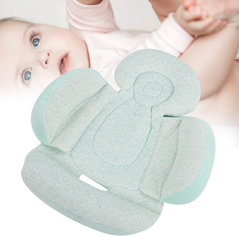 Lantro JS Coussin de Poussette pour bébé Lavable en Machine, Coussin de Soutien pour Le Corps, Coussin de Poussette pour Nouveau-né, été pour Le Printemps(Pink) Green