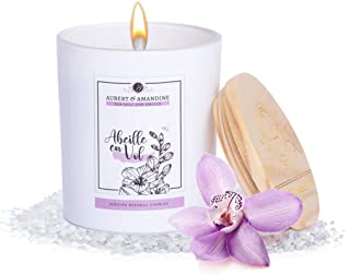 Aubert & Amandine Abiellle en Vol Luxury Scented Beeswax Candle for Stress Relief & Relaxation High Intensity Aromatherapy...