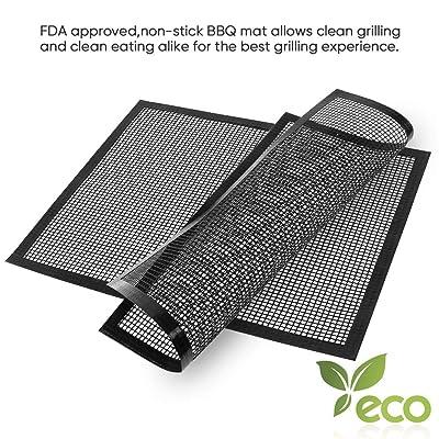 AIRSSON Non-Stick Grid Barbecue mat,BBQ Grill M...