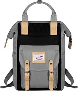 Women Wide Open Vintage Travel School Backpack Bookbag Girls Daypack