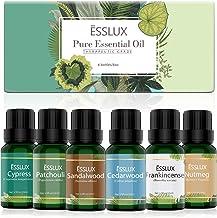 Essential Oils Set, ESSLUX Men Scents Collection with Cypress, Cedarwood, Patchouli, Sandalwood, Frankincense, Nutmeg Esse...
