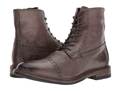 Frye Murray Lace-Up (Grey Washed Dip-Dye Leather) Men
