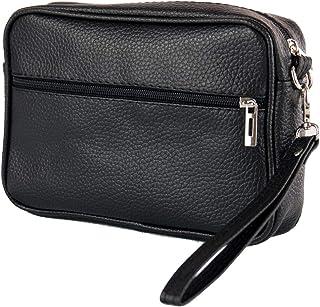Portafoglio donna grande xl per carte di credito con doppia zip e scoamparti portamonete ecopelle portafogli economici extra large Marrone