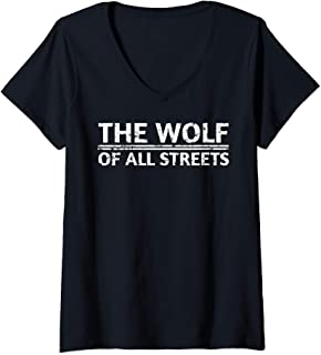 Womens The Wolf Of All Streets T-Shirt V-Neck T-Shirt